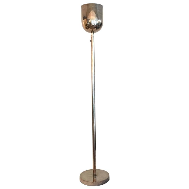 1930s modernist silver plated floor lamp for sale at 1stdibs for 1930s floor lamp