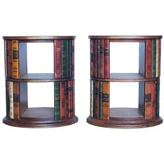 Pair of Italian Leather Side Tables