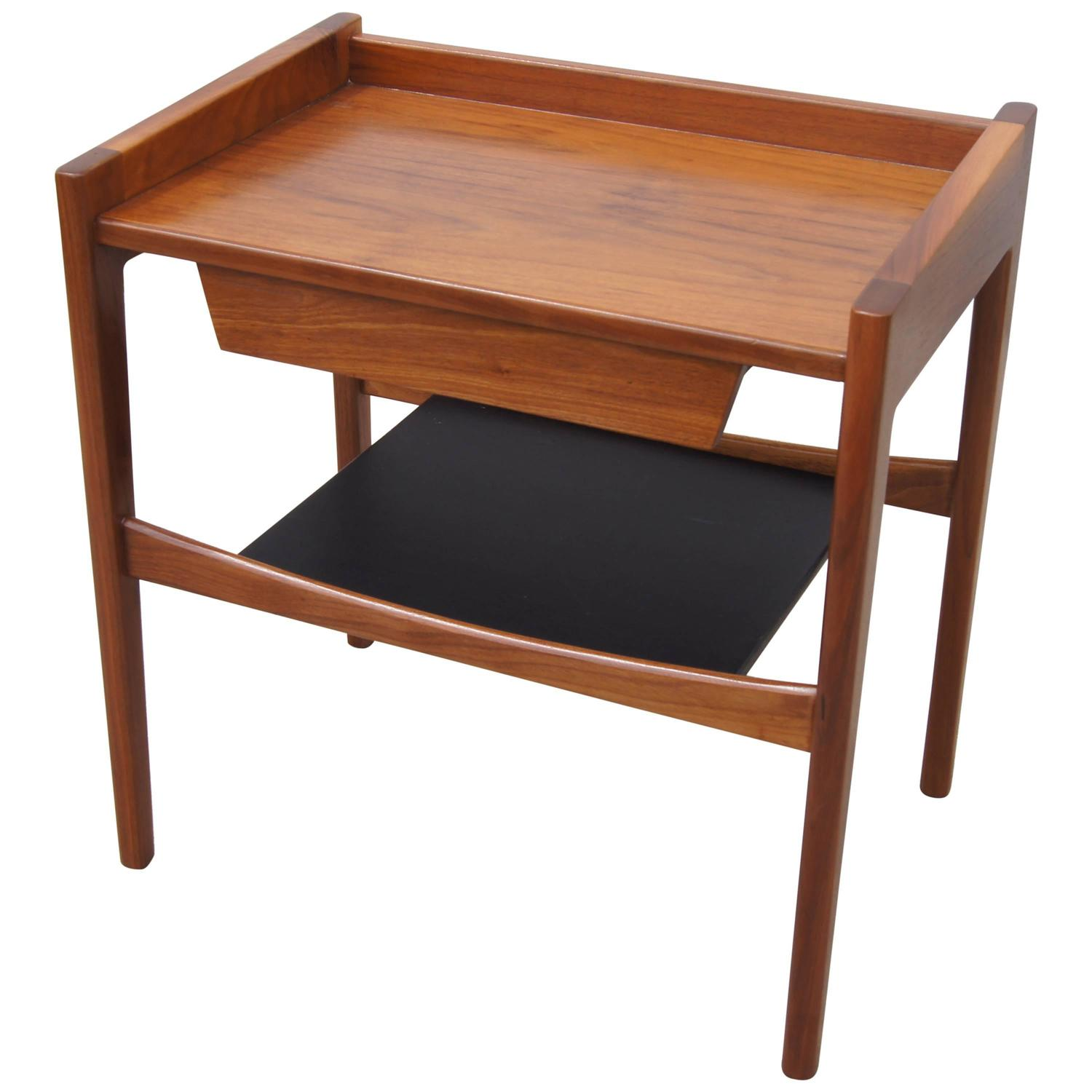 Rare walnut and leather low side table by jens risom for sale at rare walnut and leather low side table by jens risom for sale at 1stdibs geotapseo Choice Image