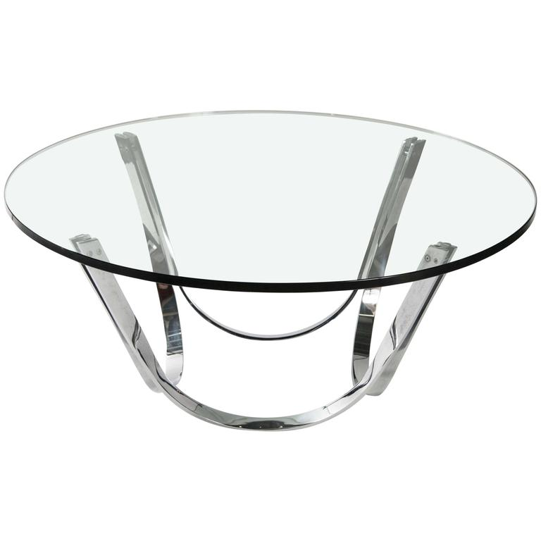 Round Glass Coffee Table by Tri-Mark Designs