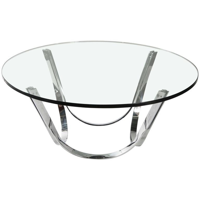Round Gl Coffee Table By Tri Mark Designs