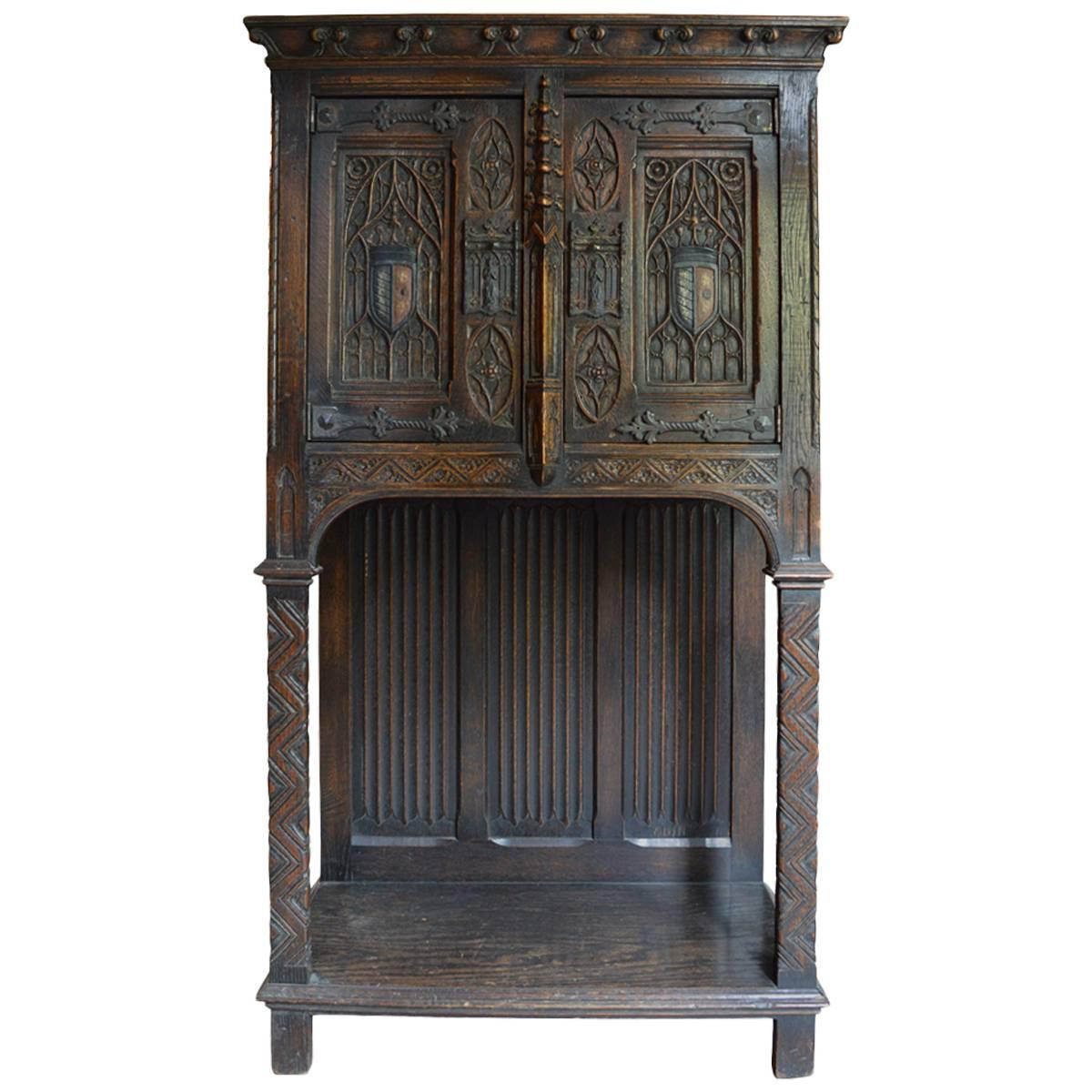 Antique 19th Century Gothic Revival Cabinet At 1stdibs