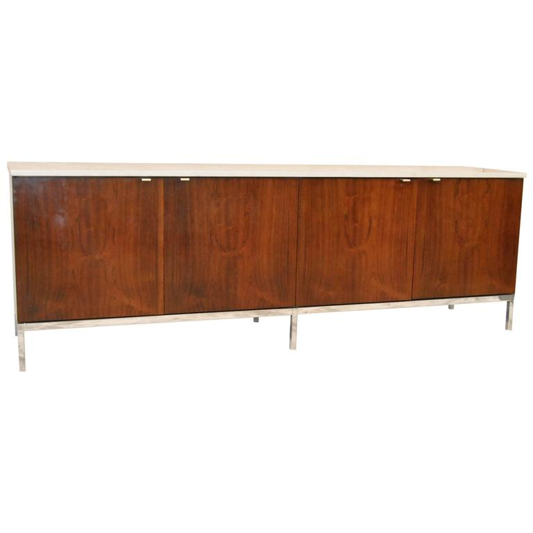 Florence Knoll Rosewood Marble-Top Credenza