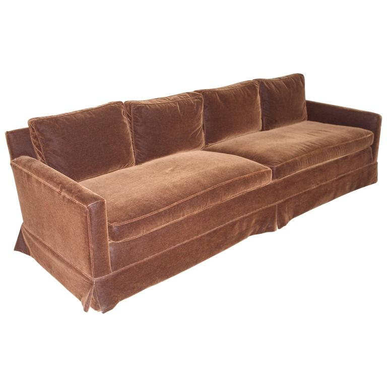 Mid Century Modern Grand Sofa Reupholstered in Chocolate  : 5039063l from www.1stdibs.com size 768 x 768 jpeg 36kB