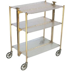 French Collapsible Drinks Cart of Acrylic