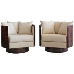 Hancock Barrel Back Swivel Chairs