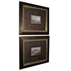 Venetian Scene Framed Prints, Double Matted with Two Filets