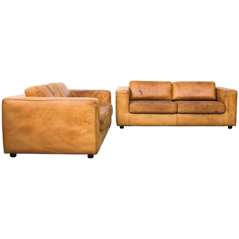 Strange Amazing Natural Cognac Leather Loveseat By Durlet At 1Stdibs Machost Co Dining Chair Design Ideas Machostcouk