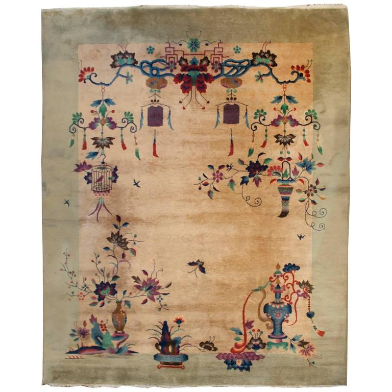 Fantastic Chinese Art Deco Rug For Sale At 1stdibs