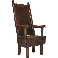 Good Primitive Chair, France, Circa 15th Century