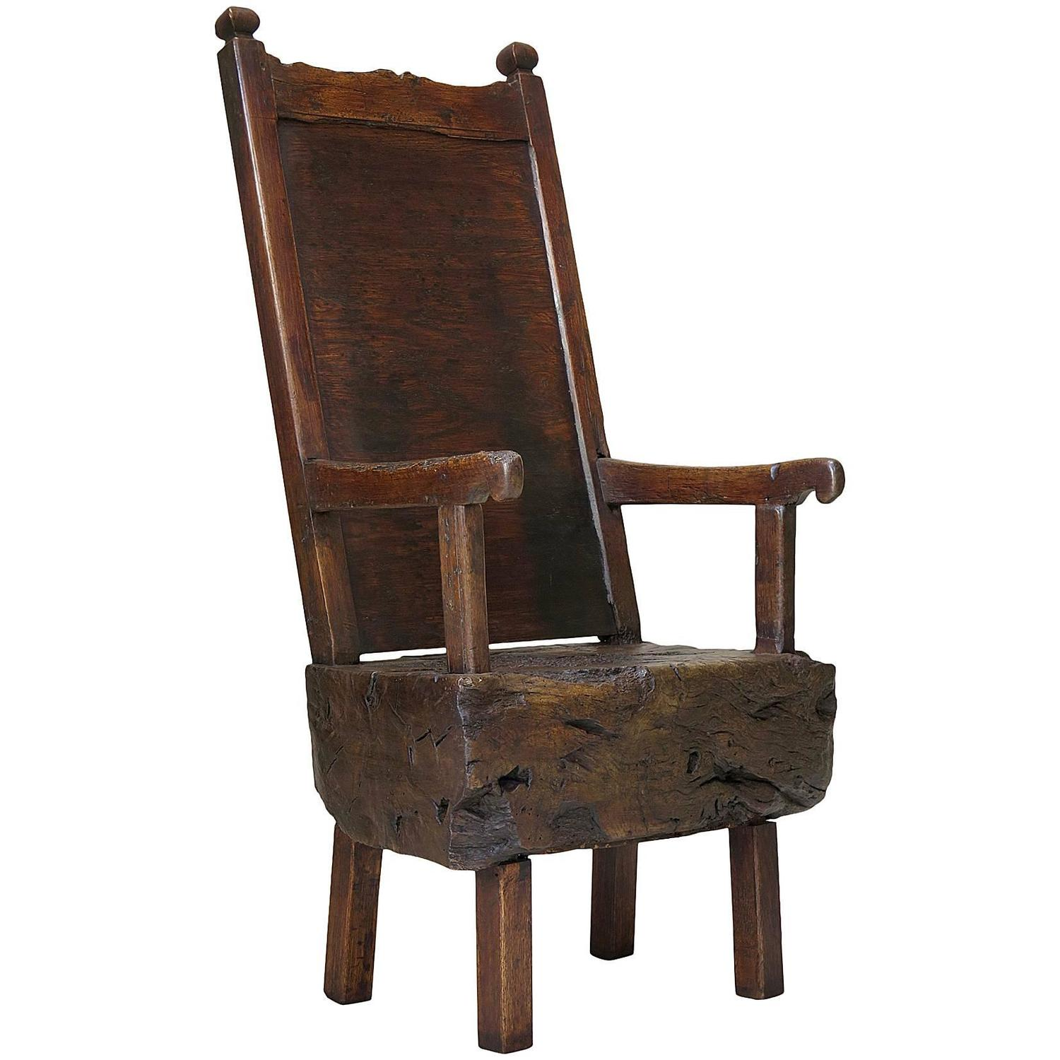 Primitive Chair France Circa 15th Century For Sale At 1stdibs