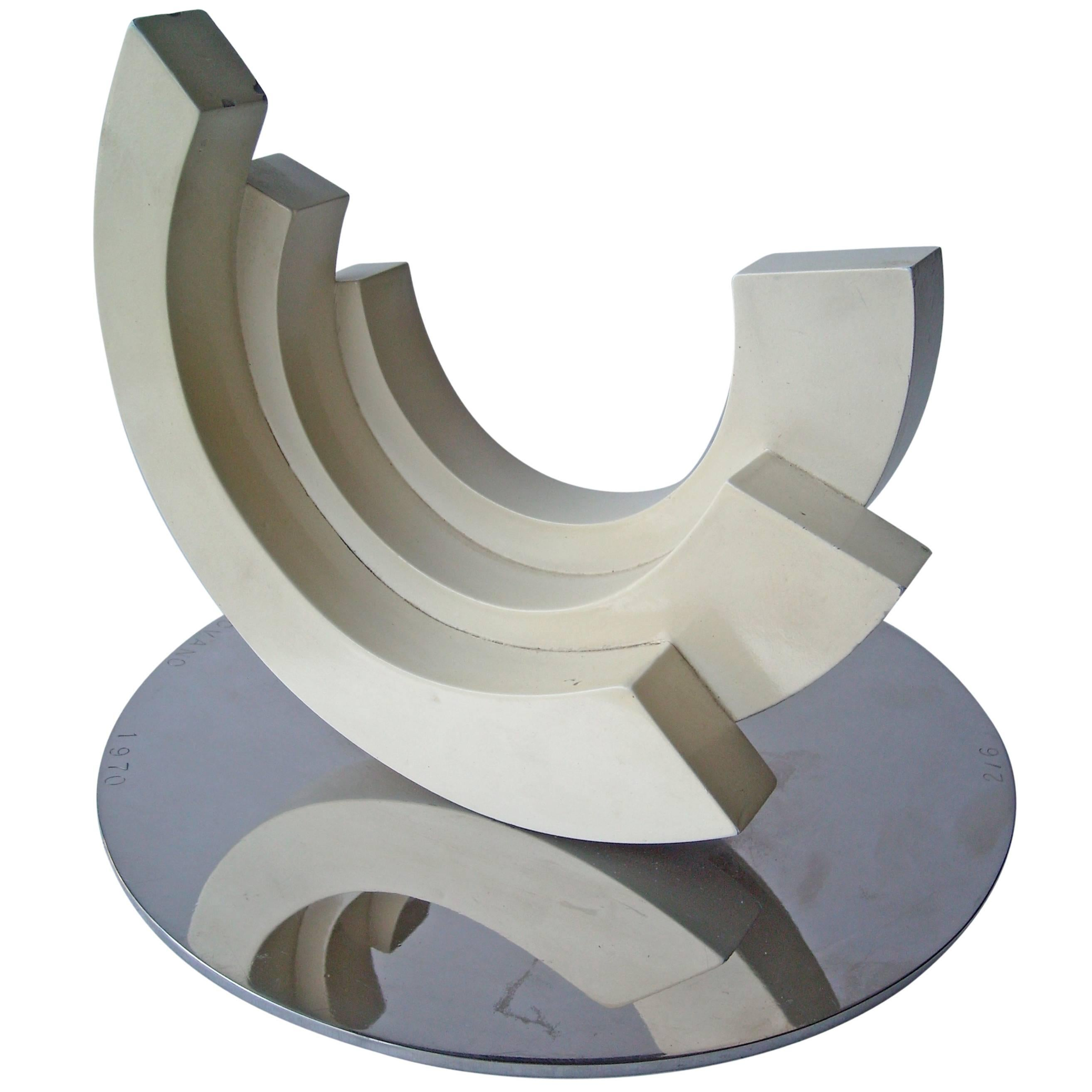 Anthony John Padovano Metal/Paint Sculpture, Signed, Dated, Numbered