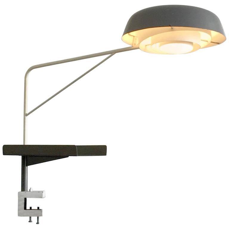1950 Henri Lancel And Robert Mathieu Agrafée Clamp Desk Lamp For Sale