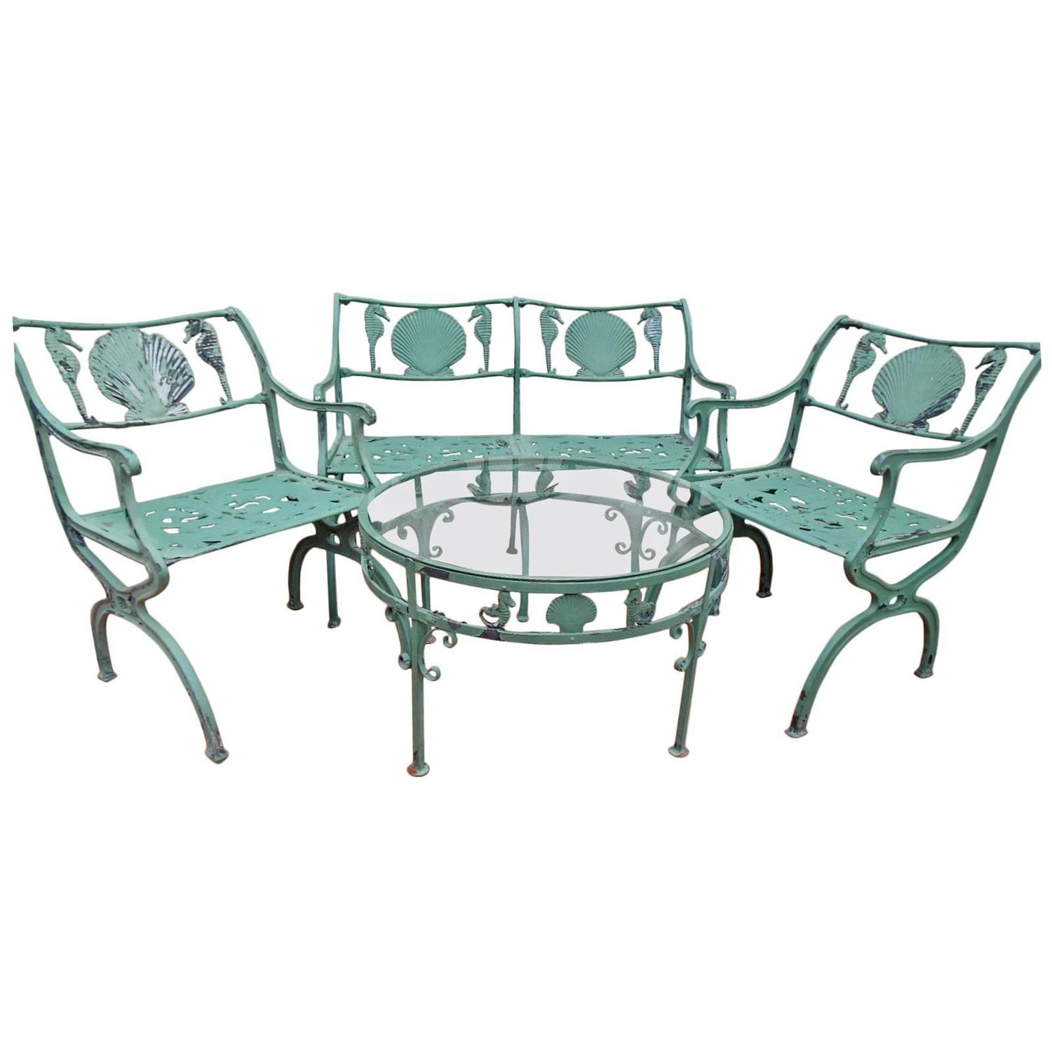 Molla Vintage Four Piece Patio Set For Sale At 1stdibs