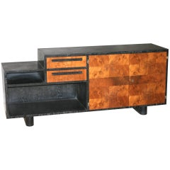 Art Deco Limed and Exotic Wood Bar/Sideboard