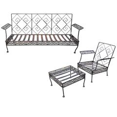 1960s Greek Key Patio Set