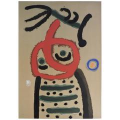 Joan Miro - Femme et Oiseau - Pochoir - Cartones, 1959 -1965