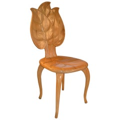 1970s Bartolozzi & Maioli Wooden Leaf Chair