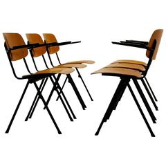 Industrial Plywood Marko School Chairs, Netherlands, 1960s