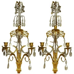Pair of French Baltic/ Louis XVI Style Sconces