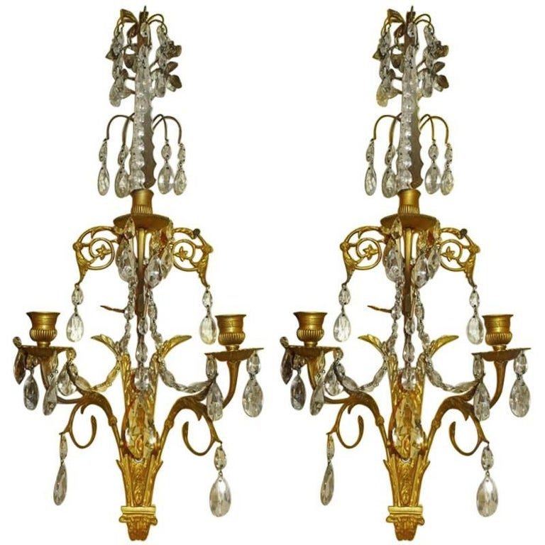 Pair of French Baltic/ Louis XVI Style Sconces 1