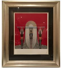 "Erte ""The Egyptian"" Serigraph Signed Limited Edition CXVIII/CL"