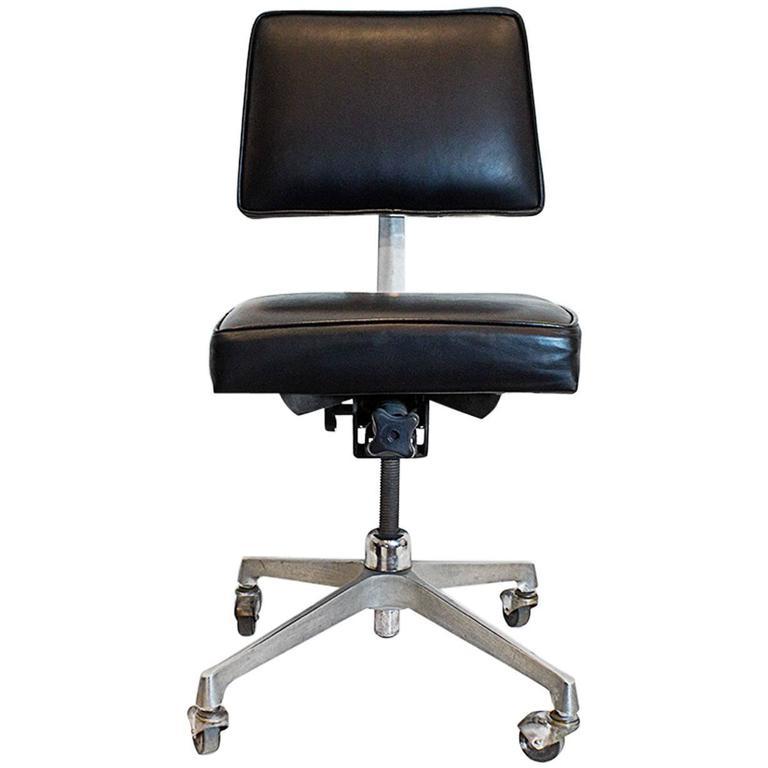 Mid-Century Cast Aluminum Task Chair, Circa 1960 At 1stdibs
