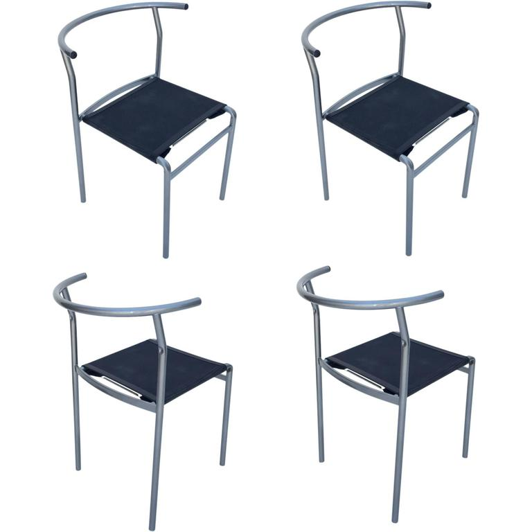 Four Café Staking Chairs By Philippe Starck For Cerruti Baleri For Sale