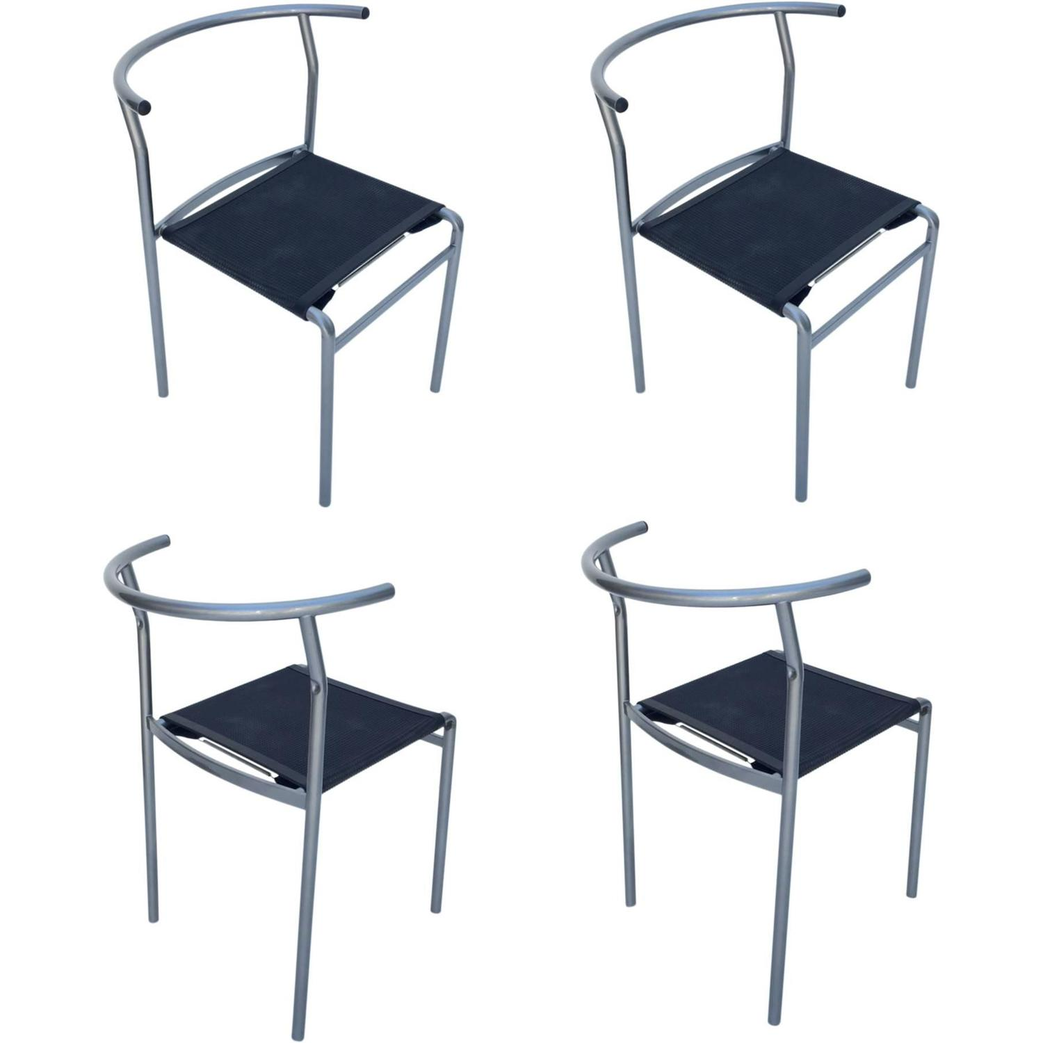 Four Caf  Staking Chairs by Philippe Starck for Cerruti Baleri   Aluminium Hudson Chair by Philippe Starck for Emeco For Sale at  . Phillip Stark Chairs. Home Design Ideas