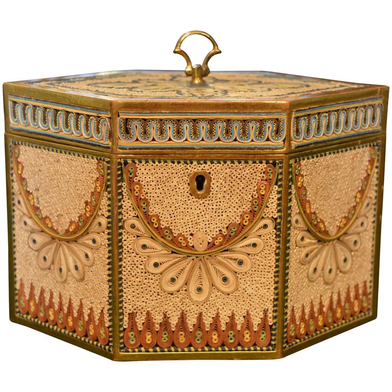 Late 18th Century Rolled Paper Tea Caddy at 1stdibs
