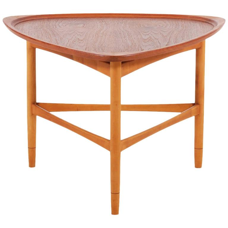 Kurt Ostervig Triangular Teak Coffee Table for Jason Møbler