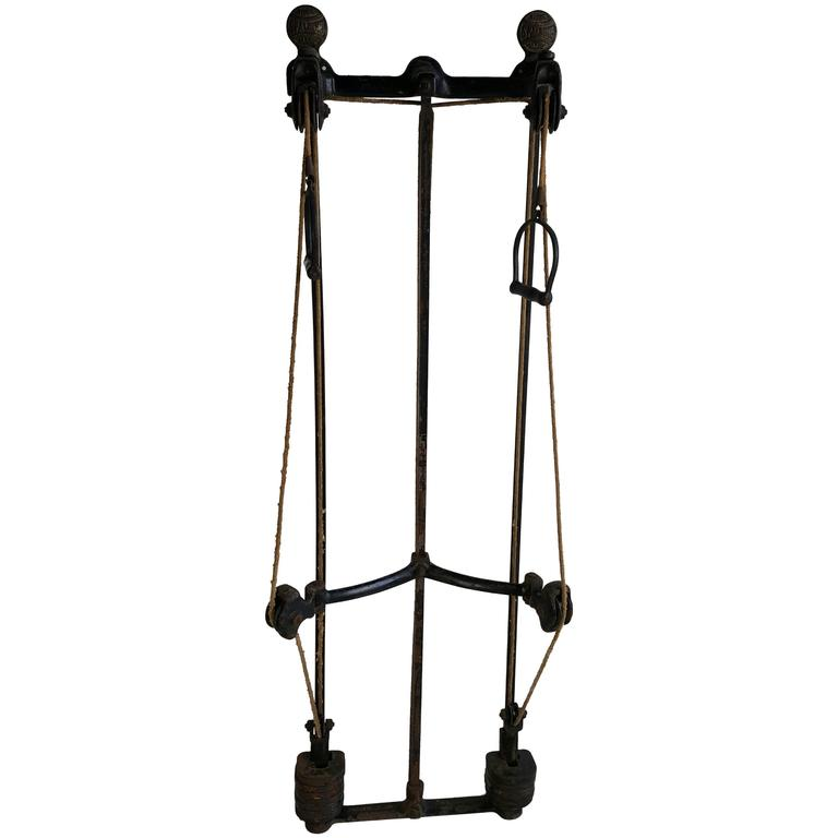 Turn of the Century Spualding Exercise Weight Training Machine, circa 1896 For Sale