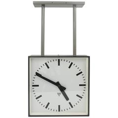 Very Big Double Sided Industrial, Two-Face Train Station Clock
