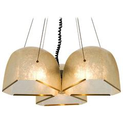 Salvatore Gregorietti Chandelier in Fiberglass and Brass