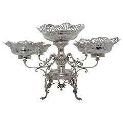 Antique Silver Epergne Sheffield 1907 Walker & Hall