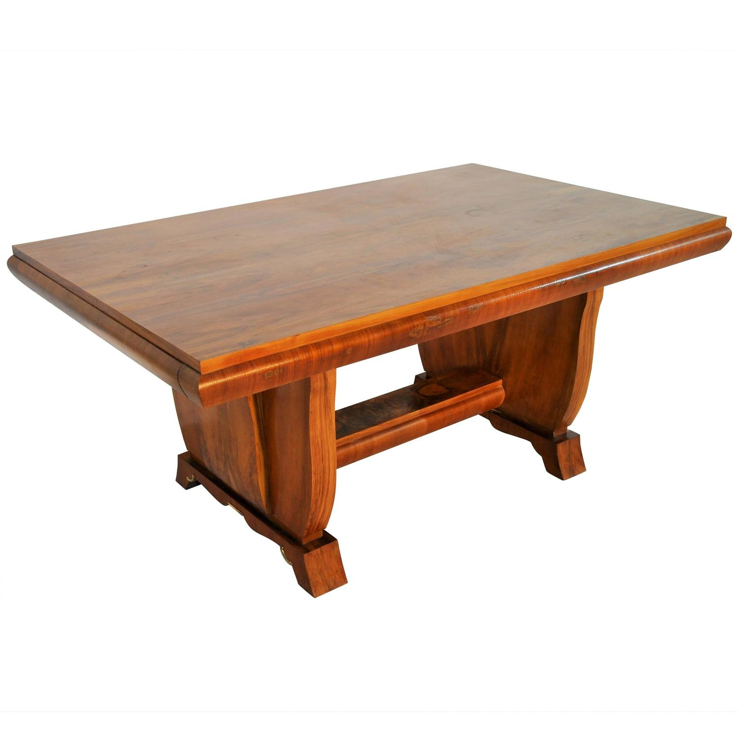 Expandable Art Deco Dining Table From France For Sale At