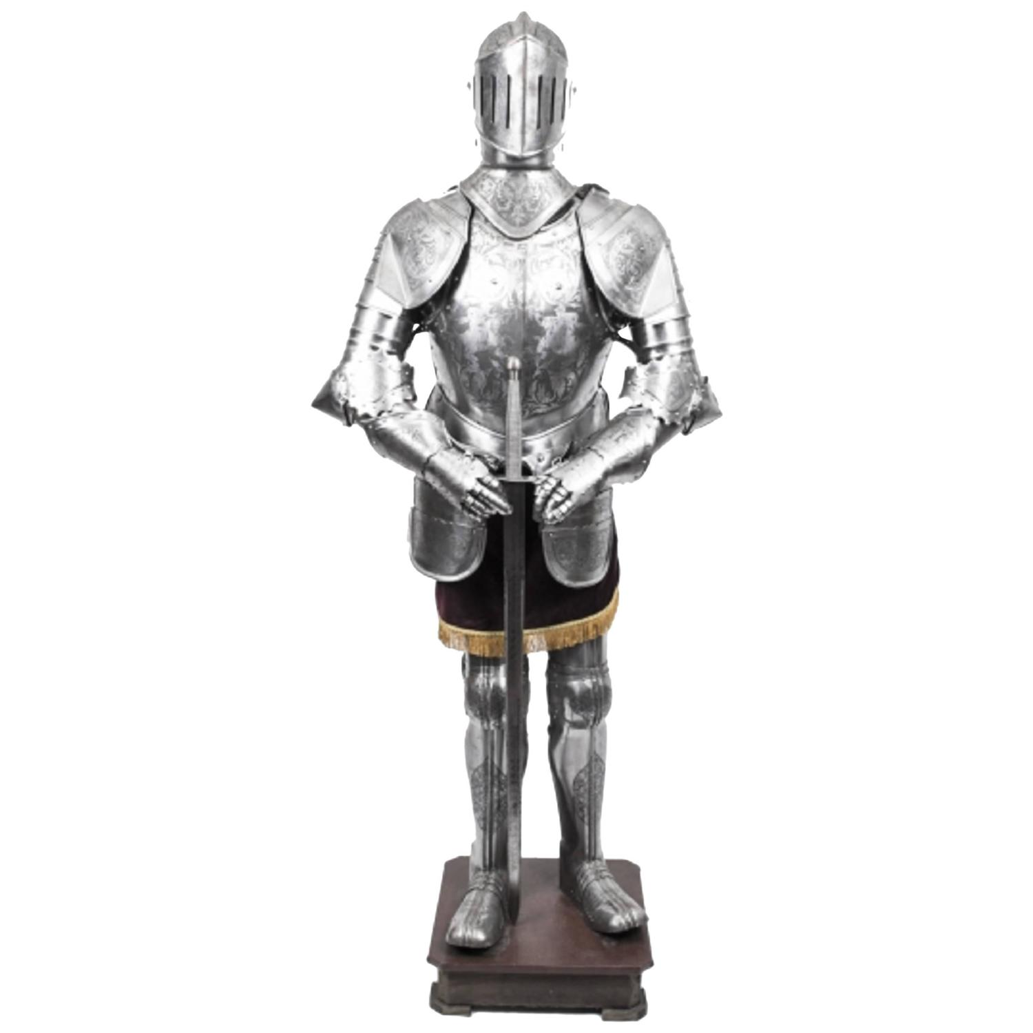 vintage 16th century style complete suit of armour engraved at 1stdibs