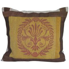 19th Century French Needlepoint Pillow by Mary Jane McCarty