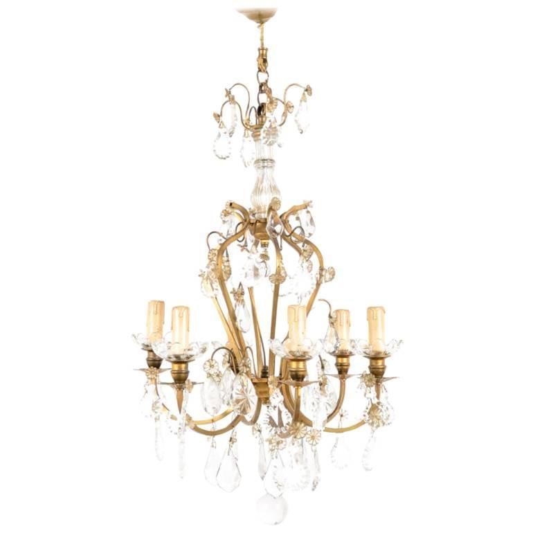 Chandelier Lighting Vancouver Bc: French Louis XV-Style Bronze And Crystal Birdcage