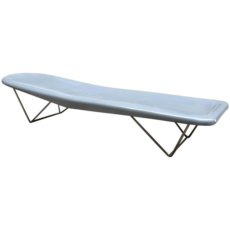 Modern Fibrella Poolside Chaise In The Style Of Harry Bertoia For Knoll Sale At 1stdibs