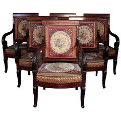 Rare Set Of Drawing Room Stately Furniture, 19th Century Part 80