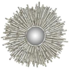 Jonathan Charles Silver Gilt Branch Convex Mirror