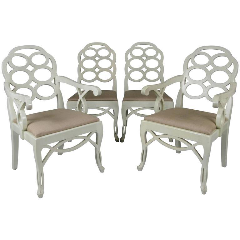 Set Of Four Vintage Loop Chairs By Frances Elkins 1