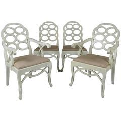 Set of Four Vintage Loop Chairs by Frances Elkins