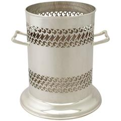 George V Sterling Silver Bottle Coaster