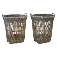Large Antique French Harvest Basket