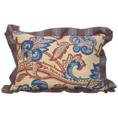 Early 20th Century Printed Linen Pillow by Mary Jane McCarty