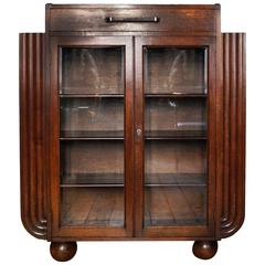 Elegant Art Deco Bookcase, England, 1930s