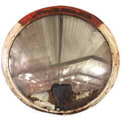 Large Industrial Convex Mirror, Czech Railways 1930s