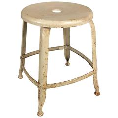Industrial French Stool by Nicolle, 1940s
